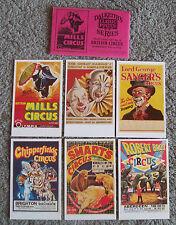 British Circus Dalkeith set of 6 cards in envelope set 12