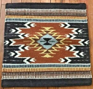 """90% Wool Southwestern 18"""" x 18"""" Pillow Cover, Wall Hanging Tapestry"""