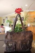 MASSIMO DUTTI Brown Pebbled Leather 2 Front Pocket Shoulder Bag  (p2000