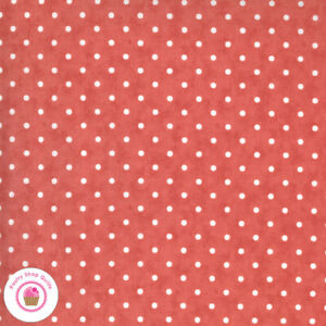 Moda SANCTUARY 44257 24 Tomato Rose Red White Polka Dots 3 SISTERS Quilt Fabric