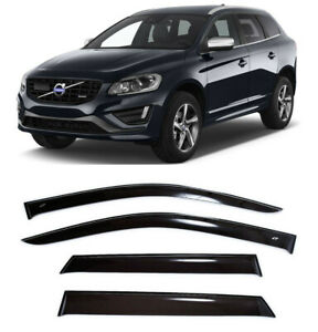 For Volvo XC60 2008-2017 Side Window Visors Sun Rain Guard Vent Deflectors