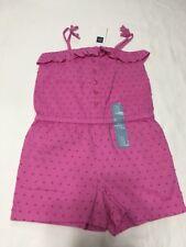 New Baby Gap Girl's Size 4T Romper Spaghetti Straps Pink