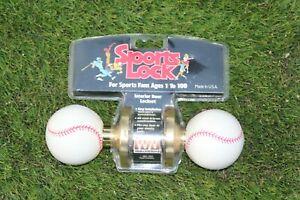 Vintage 1992 Weslock Sports Lock Door Lockset baseball Knobs interior design