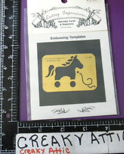 Horse Pony Toy Ribbon Dry Emboss Stencil Embossing Lasting Impression # 735