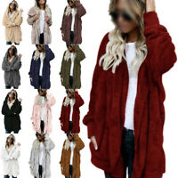 Women Fleece Teddy Bear Fur Coats Jacket Ladies Winter Warm Baggy Fluffy Outwear