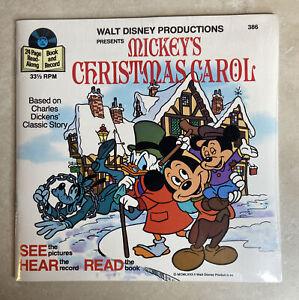 NEW Walt Disney Mickey's Christmas Carol Read Along Book & 33 1/3 RPM Record