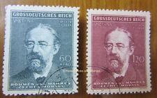 EBS Bohemia & Moravia Böhmen & Mähren 1944 Smetana Anniversary Michel 138-139 U