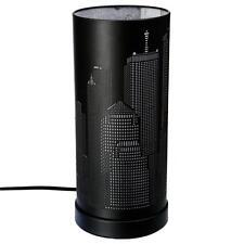 Lampe New York Argenté / Noire   Cylindrique Métal Tactile 3 Intensités  Déco