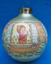 Vtg 1987 Christmas Noel Glass Betsey Clark Satin Glass Hallmark Ornament B3