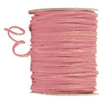 100 mètres cordon raphia laitonné rose 2.5 mm decor mercerie loisirs créatifs