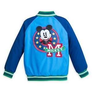 NWT DISNEY Store Boy Varsity Jacket Mickey Mouse 3,4,5/6,7/8,9/10