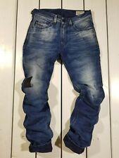 New Diesel Men's Jeans W28 L32 Thavar R84L6 Slim Skinny Blue Stonewashed