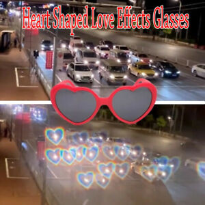 Effect Glasses Heart-shaped Lights Become Love Image Heart Diffraction Glasses