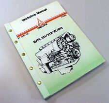 KHD DEUTZ B FL 911 912 W 913 DIESEL ENGINE SERVICE REPAIR WORKSHOP MANUAL