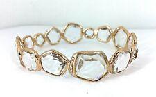 IPPOLITA Rose gold Hero clear quartz diamond bangle bracelet NEW $2995 size 2