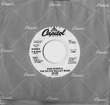 BOB SEGER & THE SILVER BULLET BAND - MIAMI - CAPITOL 45 - WHITE LABEL PRO - 1986