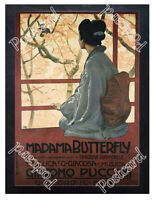 Historic Madama Butterfly opera by Giacomo Puccini 1900s Advertising Postcard
