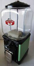 Topper Round Gum 1c Dispenser circa 1940's (green/black)