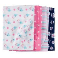 Gerber Girl 4-Pack Birds/Daisy Flannel Multi-Purpose Blankets BABY CLOTHES GIFT