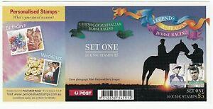 2007 AUSTRALIA STAMP BOOKLET #2 'RACING LEGENDS - HIGGINS & INGHAM' 10 X 50c MNH