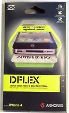 Griffin Dflex Armor Grade Screen & Back Protector for iPhone 4 GC02051 BRAND NEW