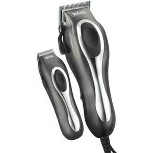 Wahl Deluxe Chrome Pro Hair Clipper Complete Haircut Kit w/ Trimmer & Case NEW
