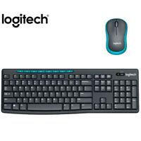 Logitech MK275 USB Wireless Keyboard 1000 DPI Optical Ergonomic Mouse Combos Set