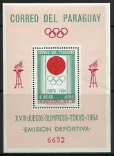 STAMPS-PARAGUAY. 1964. Summer Olympics-Tokyo Perf M/Sheet. Mi: BL 50. MNH