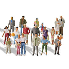 20pcs Model Trains 1:43 Scale O Scale Painted Figures Standing People P4308