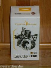 NEW Trophy Ridge React One PRO Bow Sight- Black -Right Hand .019 Pin- $260 MSRP