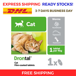 16 Tabs Bayer Cat Dewormer Treatment for Tape & Round Worm FREE EXPRESS SHIPPING
