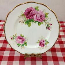 Royal Albert American Beauty Salad Plate 8 inch England Pink Roses