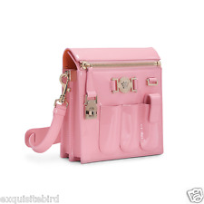 NEW VERSACE PINK PATENT LEATHER CROSSBODY BAG