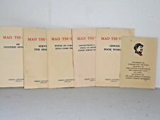 Mao Tse-Tung - 6 small 1960s pamphlets - Foreign Languages Press Peking China