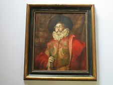 RESTORATION PROJECT PAINTING ANTIQUE 19TH CENTURY ESTATE PORTRAIT MALE MODEL