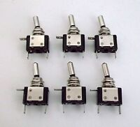 6 BBT Brand Lighted Red LED Classic Heavy Duty On/Off 20 amp Toggle Switches