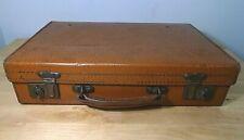 Small Vintage Faux Leather Suitcase 1940s Genuine Vulkolite Fibre