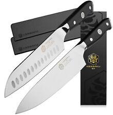 "Kessaku 8"" Chef Knife + 7"" Santoku Knife Set - Dynasty Series - German HC Steel"