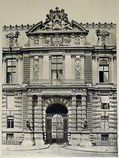 Pierre Lampué Entrée des Tuileries Paris Héliogravure XIXème