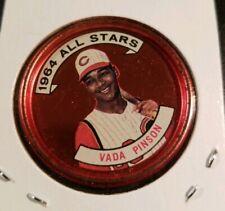 1964 **VADA PINSON** ALL STARS! CINCINNATTI  REDS #152 TOPPS COIN! USED.