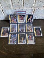 1986 Fleer Sticker Basketball Complete Set w/ Michael Jordan RC Rookie PSA 7