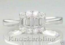 Diamond Deco Style Ring 0.40ct Baguette Cut G VS2 set in 18ct White Gold