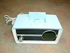 Philips Ipod Dock Speaker Dual FM Radio Alarm Clock ORD2100C/37 Baby Blue 11