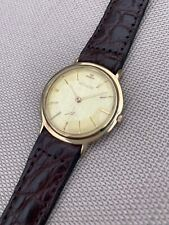 Mens LeCoultre 14k Solid Gold 35mm Ultra Thin Manual Wind Watch