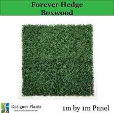 Boxwood Vertical Garden Artificial Hedge Mat 1m by 1m UV STABILISED