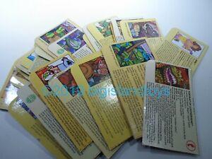 TMNT Ninja Turtles 1988 - 1996 Action Figure Parts Cardback Clip Cards [CHOICE]