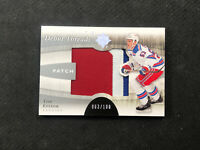 2011-12 UPPER DECK ULTIMATE TIM ERIXON ROOKIE DEBUT THREADS PATCH #ed 63/100