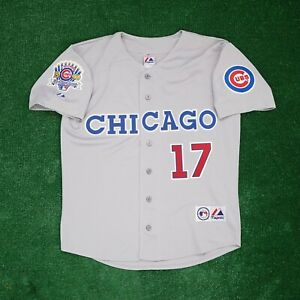 Mark Grace Chicago Cubs w/ 1990 All Star Patch Grey Road Men's Jersey