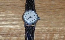 Vintage 1960's 70's Ladies Timex Watch - Works -  NOS Brown Lizard Band