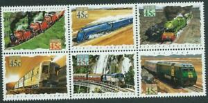 AUSTRALIA - 1993 'TRAINS' Block of 6 MNH SG1405a [B3440]